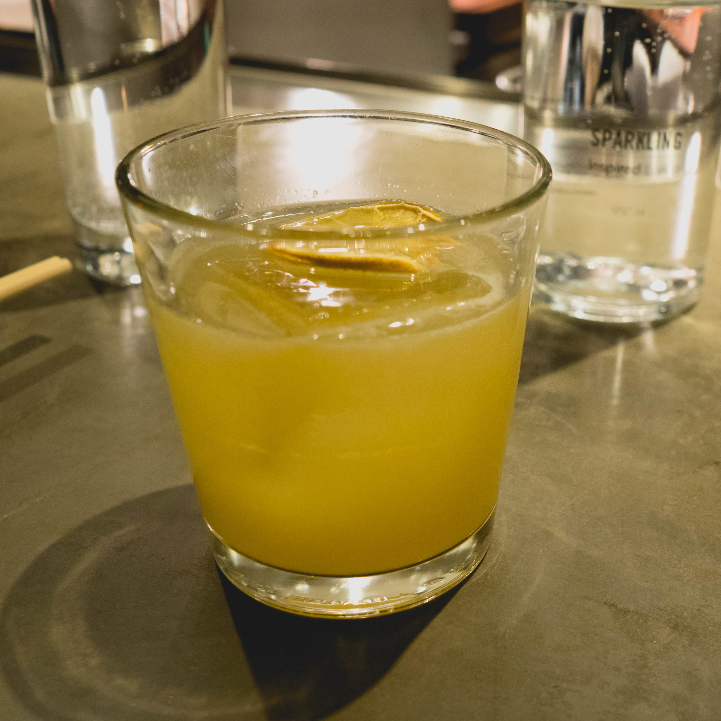 penicillin:  scotch, ginger, honey, smoke.