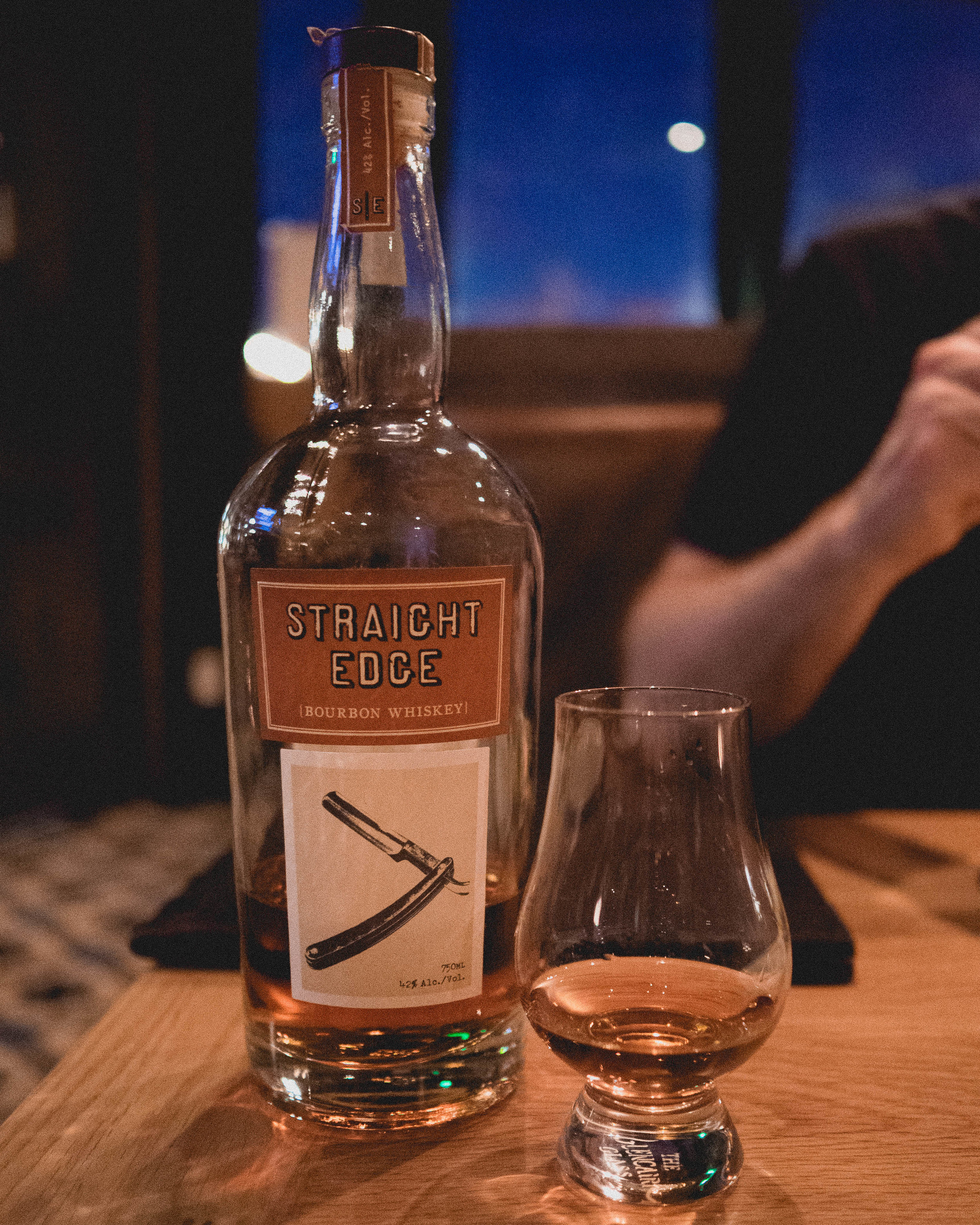whisky #2:  straight edge  bourbon whiskey.