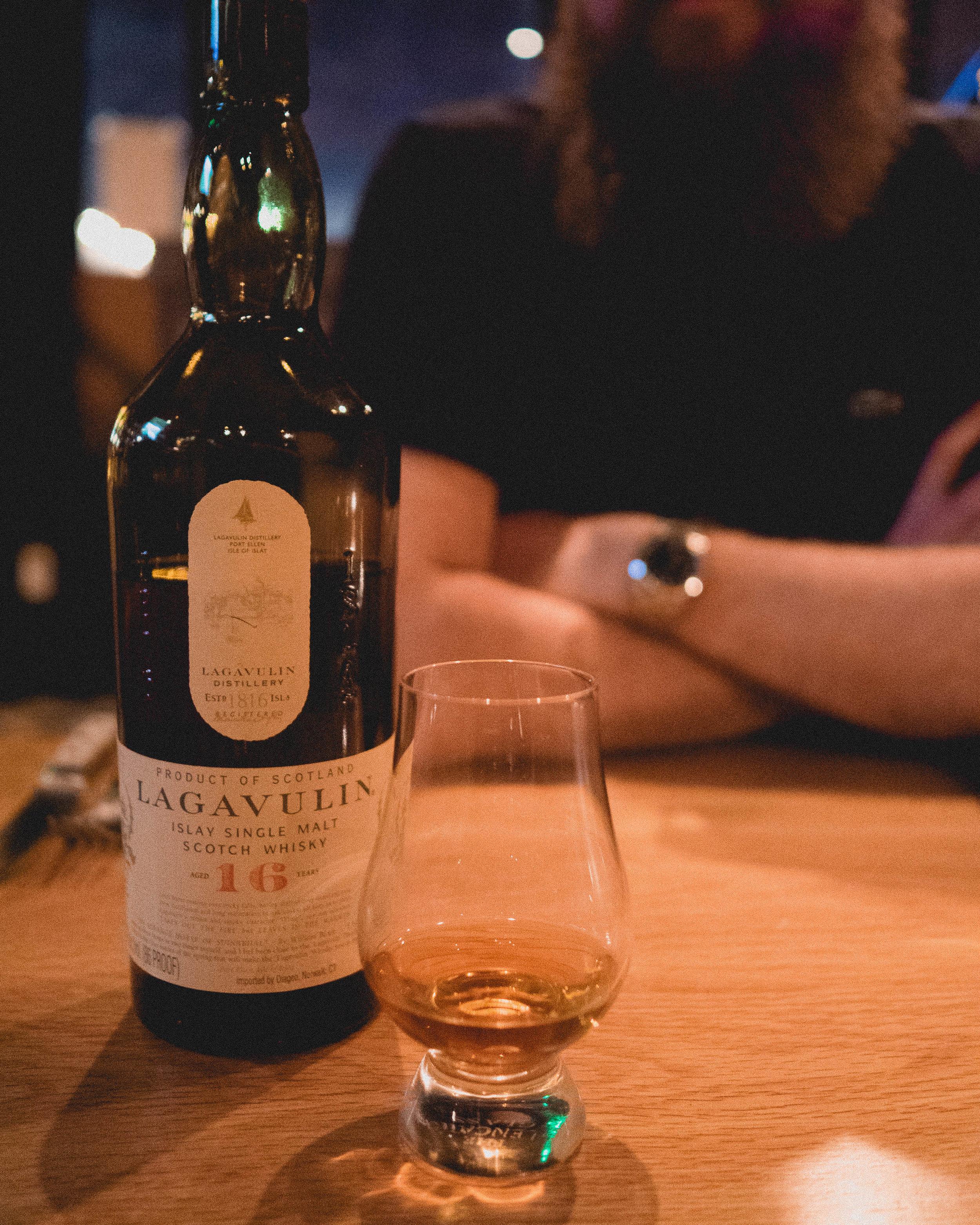 whisky #3:  lagavulin  islay single malt scotch whisky, aged 16 years.