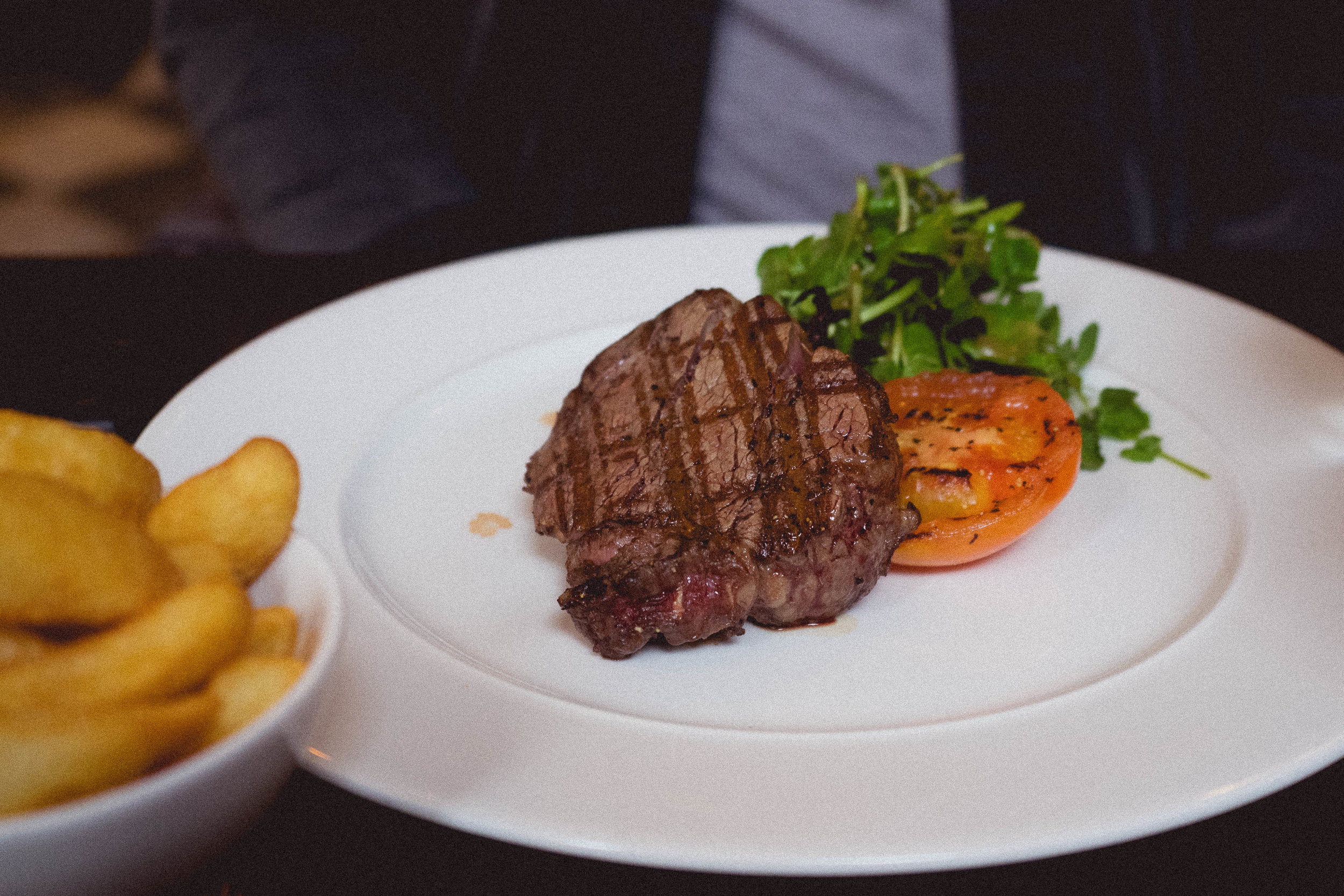 28 day matured 7 oz fillet steak.