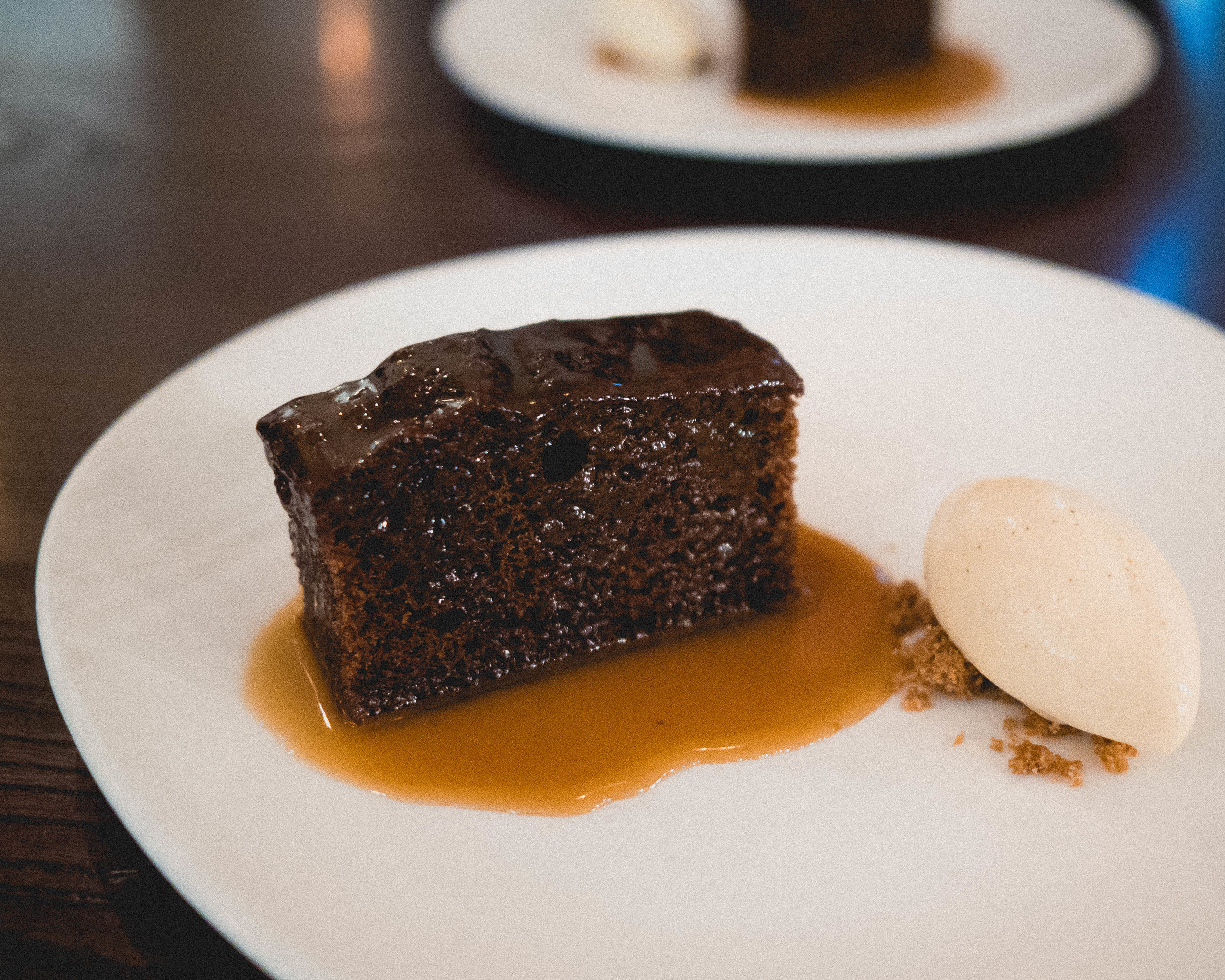 very sticky  toffee pudding , bunnahabhain butterscotch, vanilla ice cream.