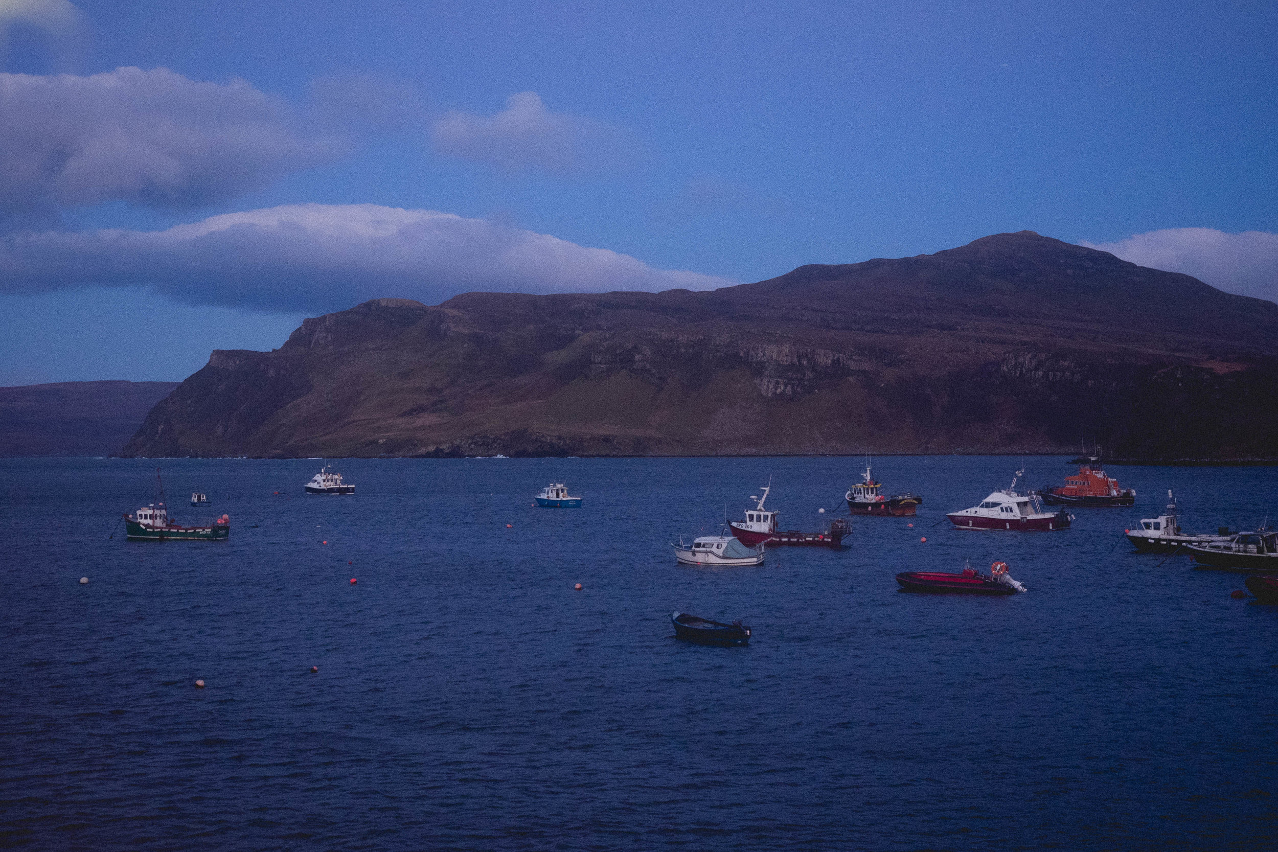 view of portree harbour from rosedale.