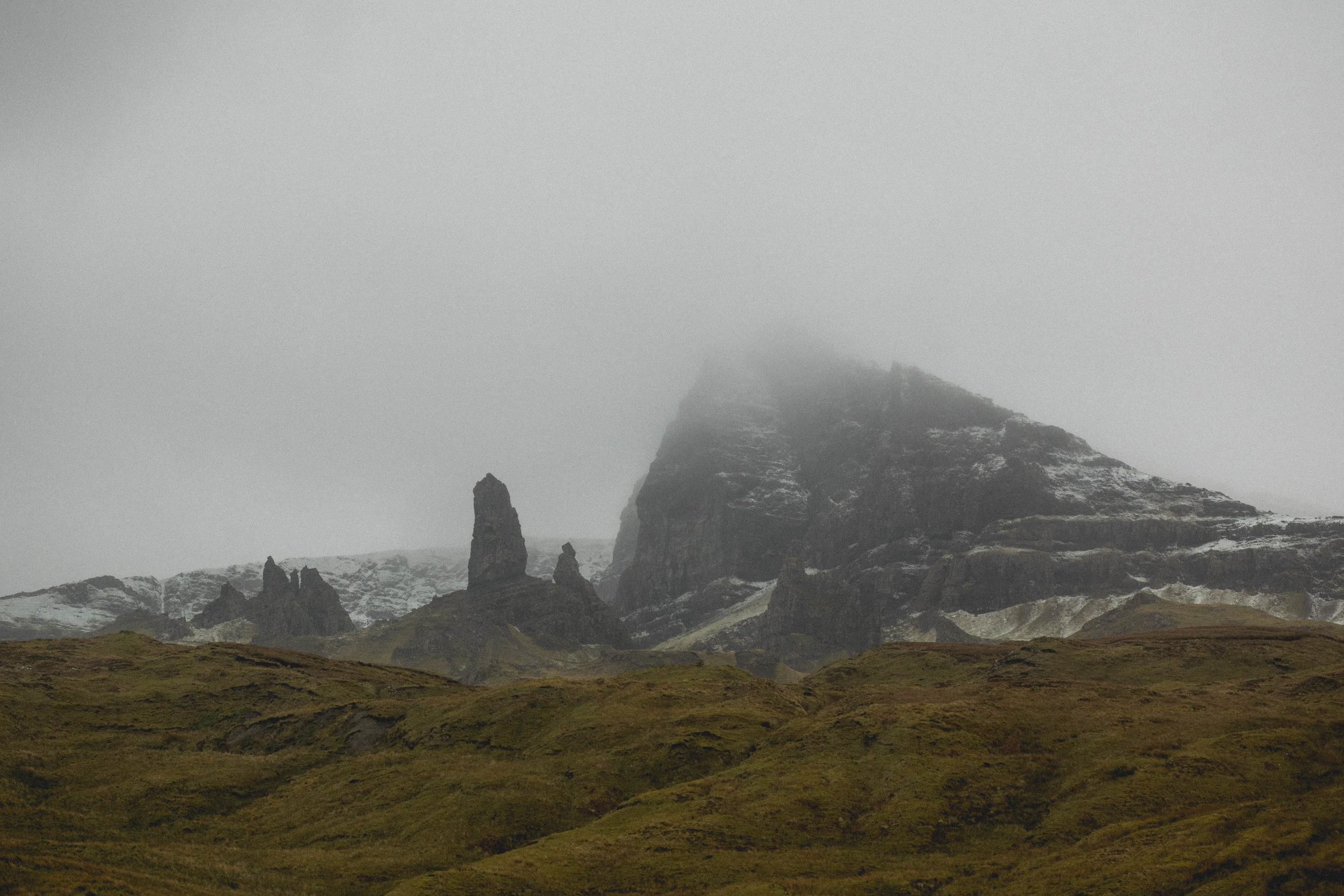 driving past old man of storr.