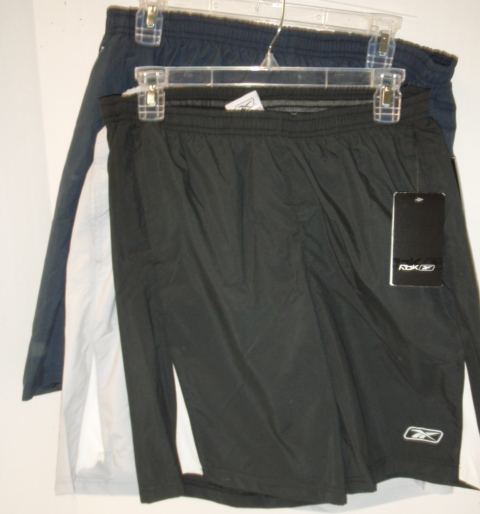 Men's Reebok Running/ Swim Shorts - NAvy Only : 24/case Size m-xxl