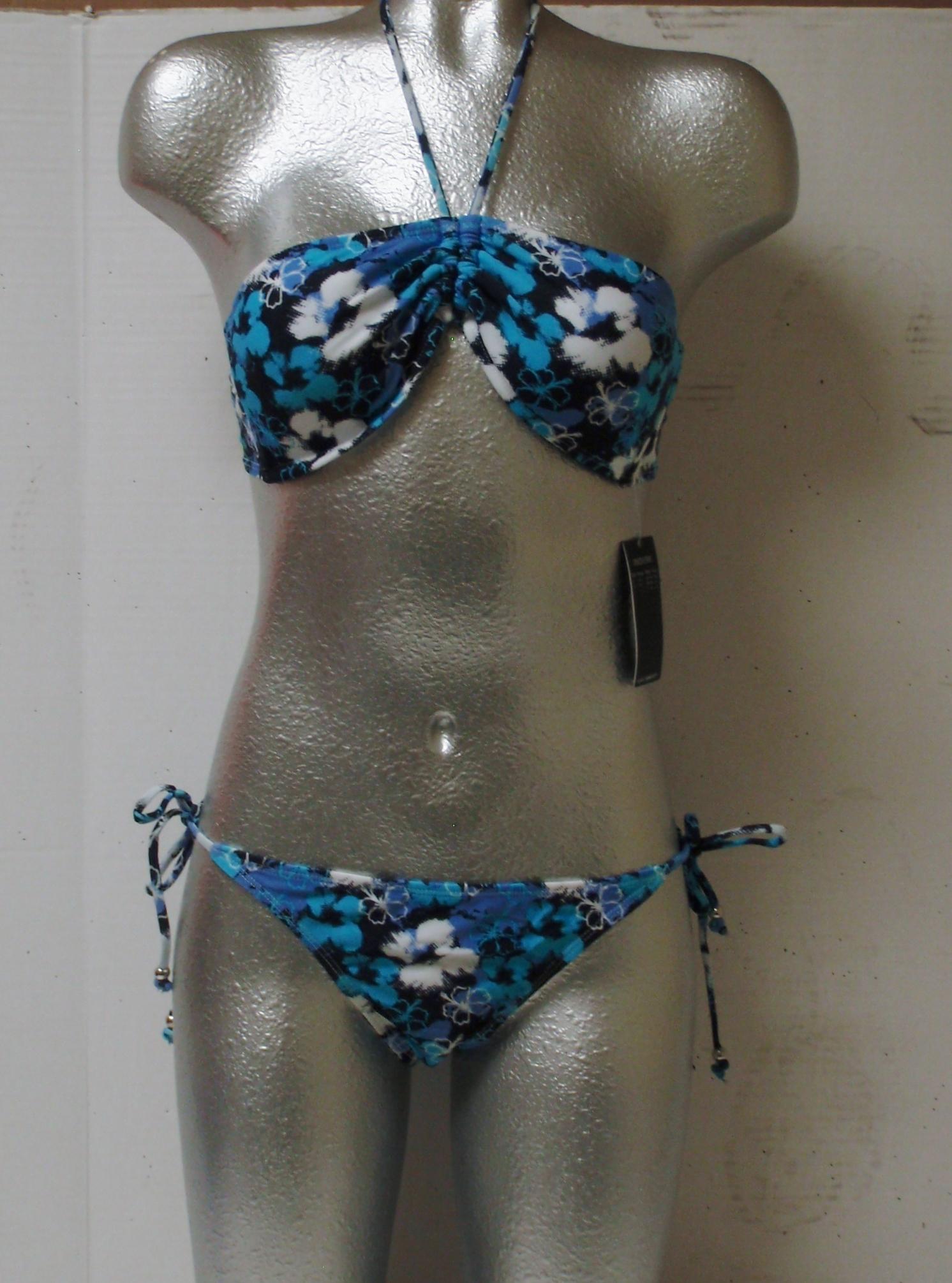 Ladies 2 Piece Blue Flowers Suit