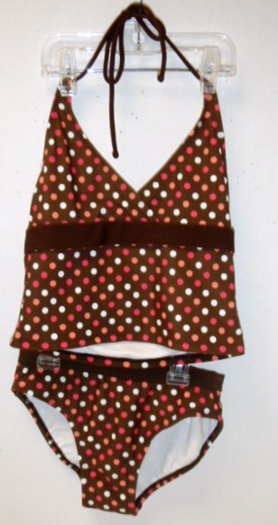 Girl's 2pc Brown Floral - 96 per case