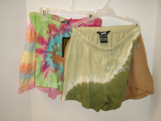 Cover Up: Cotton Tye Dye Shorts Cover-Up