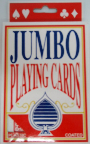 Jumbo Playing Cards - 72 per case