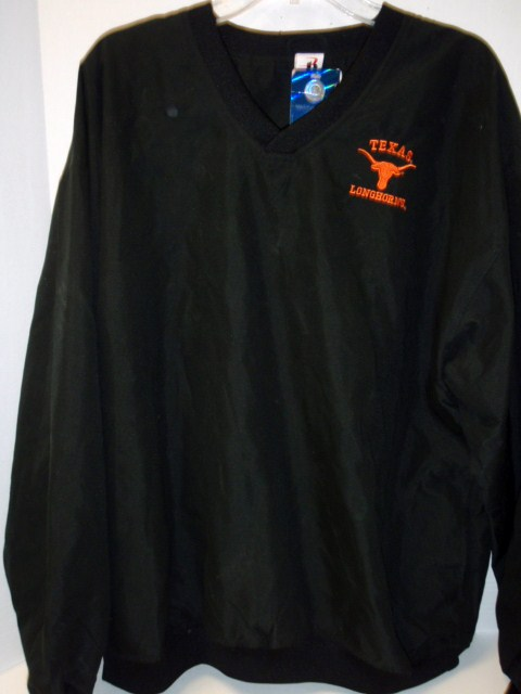 LONGHORNS: BLACK LOGO EMBROIDERED PULLOVER MENS LIMITED QUANTITIES AVAILABLE