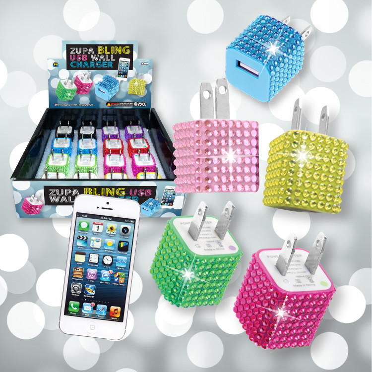 Bling Wall Charger - 16 per display