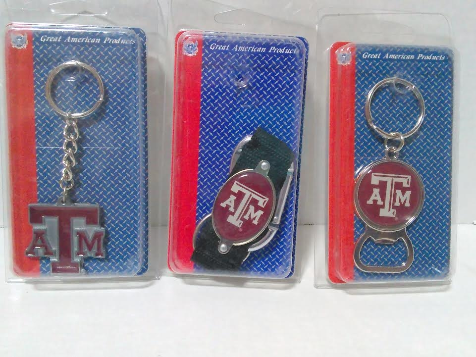 TEXAS A&M KEY CHAINS ASSORTED