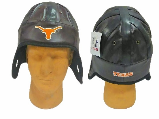 LONGHORNS: bROWN LEATHER LIKE BOMBER HAT LIMITED QUANTITIES AVAILABLE