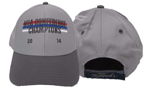 SPURS- CAP- GREY NBA CONFERENCE CHAMPIONS 2014 ON FRONT & THE FINALS ON BACK- VELCRO ADJUSTABLE- STYLE VD86Z- ONE SIZE FITS MOST