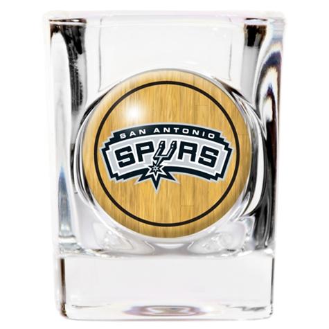 SPURS: SHOT GLASS- 2 OZ
