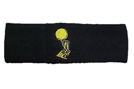 SPURS: HEADBAND- BLK W/CHAMPIONSHIP TROPHY- ADIDAS- IN PaCKage