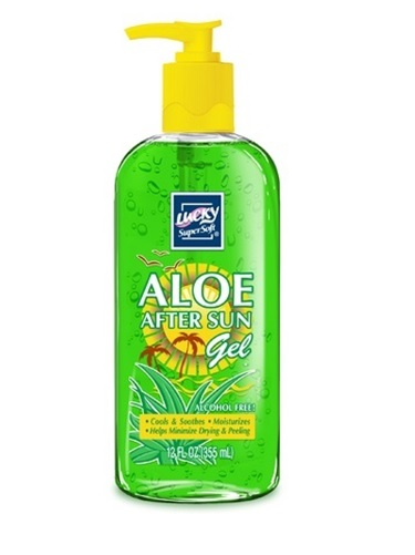 Aloe: Lucky SUPER SOFT AFTER SUN GEL ALCOHOL FREE 12 oz