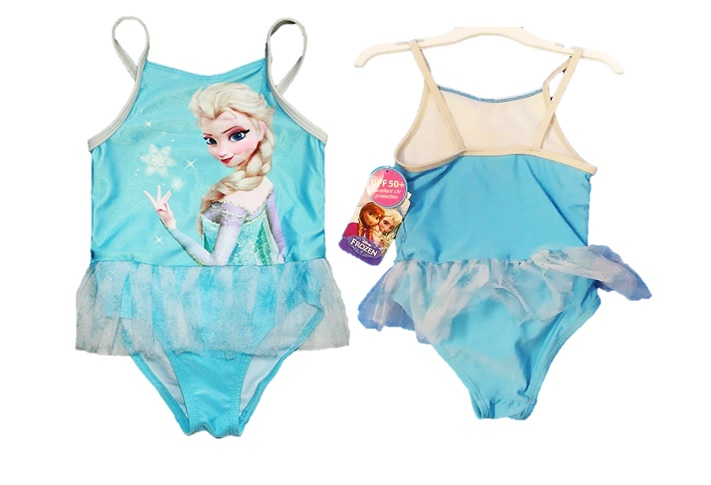 TODDLER: FROZEN 1 PIECE SWIMSUIT UPF 50+ sIZE: 3T ONLY