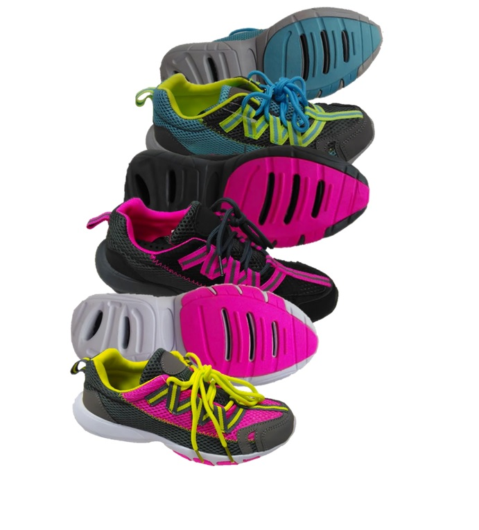 DRAINAGE: WOMEN'S : COLOR : NEON PINK/NEON GREEN, BLACK/NEON PINK, NEON BLU/NEON GREEN : SIZES : 5-10 : MUSICAL RUN IN ALL COLORS OR JUST BLACK/NEON PINK OR AVAILABLE BY SIZE : CASE : 24 PER : 5/2, 6/4, 7-6, 8/6, 9/4, 10/2