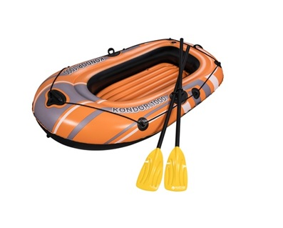"BestWay : 1 MAN BOAT SET with Oars : 61"" X 38"" : Item #61078 (6/case)"
