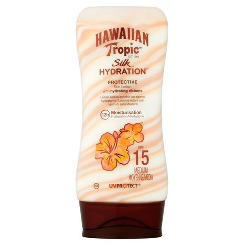 HAWAIIAN TROPIC SILK HYDRATION MOISTURIZATION WITH HYDRATING RIBBONS SPF 15 LOTION 6.8 OZ