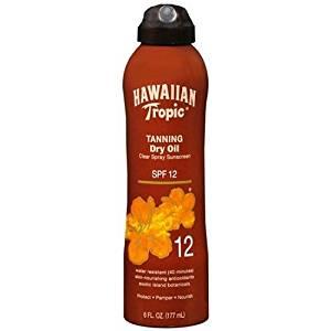 HAWAIIAN TROPIC: TANNING DRY OIL SPF 12 6 FL OZ.