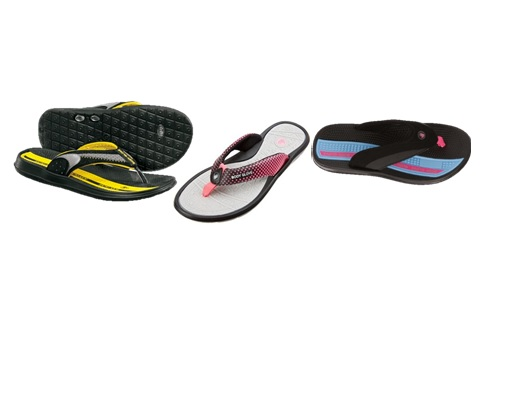 BODY GLOVE, MEN'S AND WOMEN'S FLIP FLOPS ASSORTED STYLES AND SIZES, 12 PER CASE