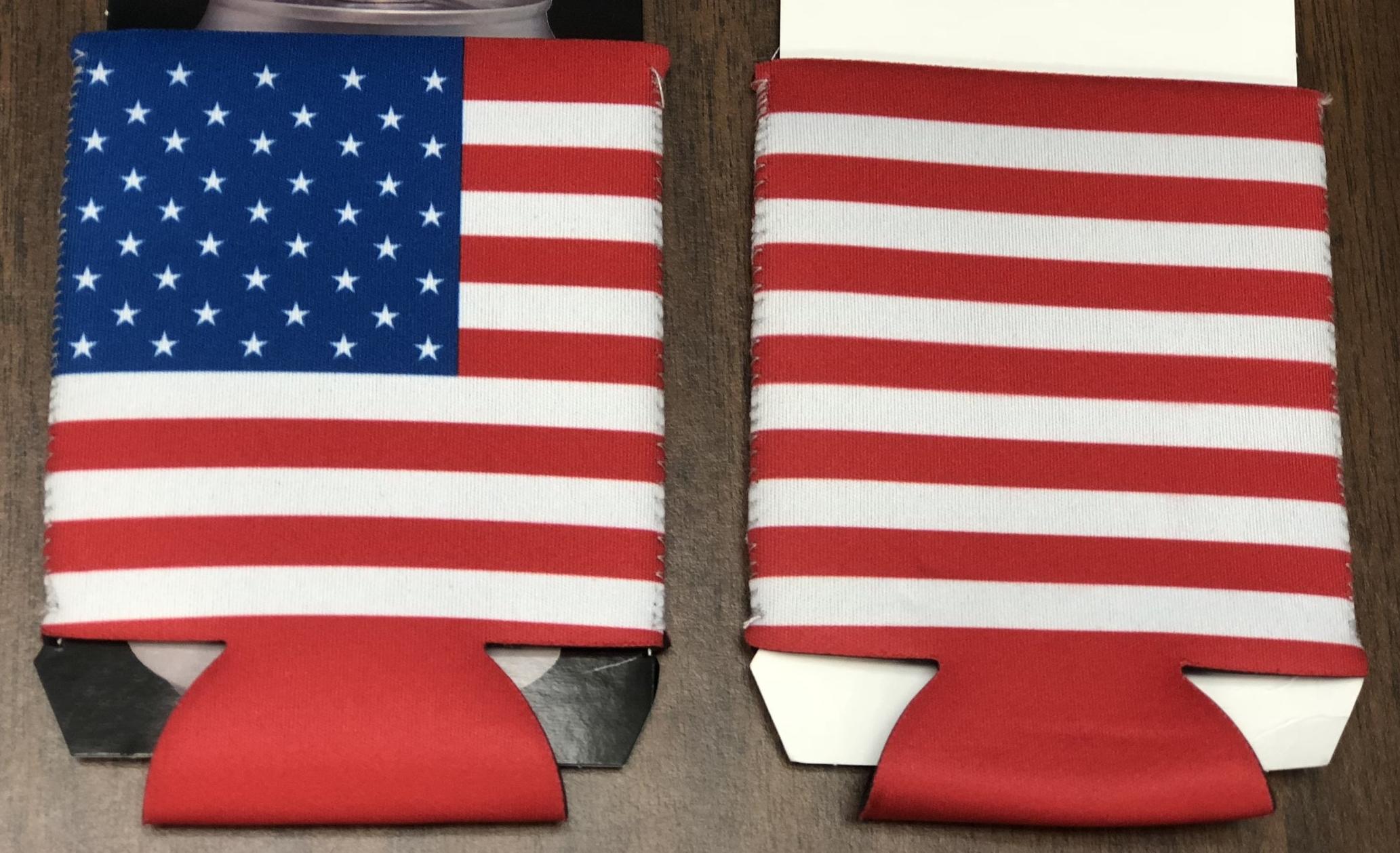 AMERICAN FLAG POCKET KOOZIE, 576 PIECES