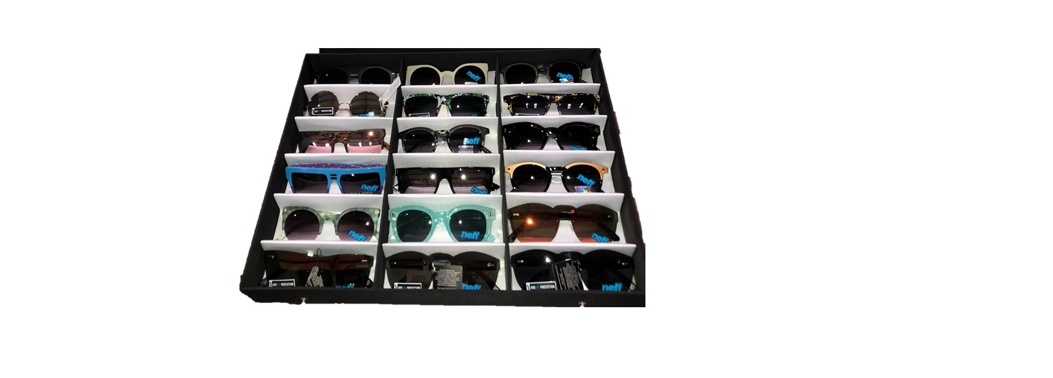 NEFF SUNGLASSES, ASSORTED STYLES AND COLORS