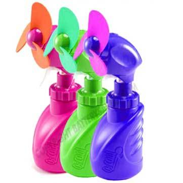 squeeze breeze water misting fan, assorted colors