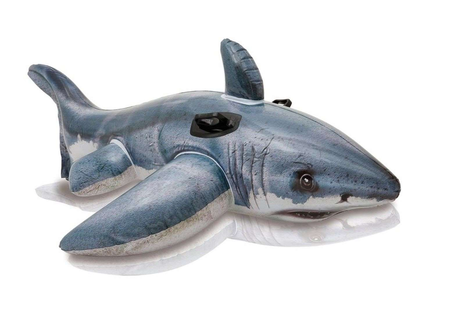 "Intex : Great White Shark Ride-On : 68""x42"" : Item # 57525EP (6/case)"