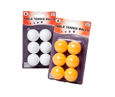 Ball: Ping Pong 6pk. - 48 per case