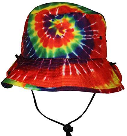 Tie dye bucket hats