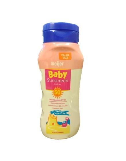 Meijer Baby SPF 50 Lotion 10oz