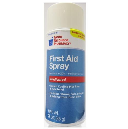 Good Neighbor Pharmacy First Aid Medicated Spray 3oz