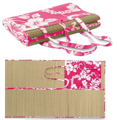Pink Bamboo Sand Mat  60*180cm or 90*180cm