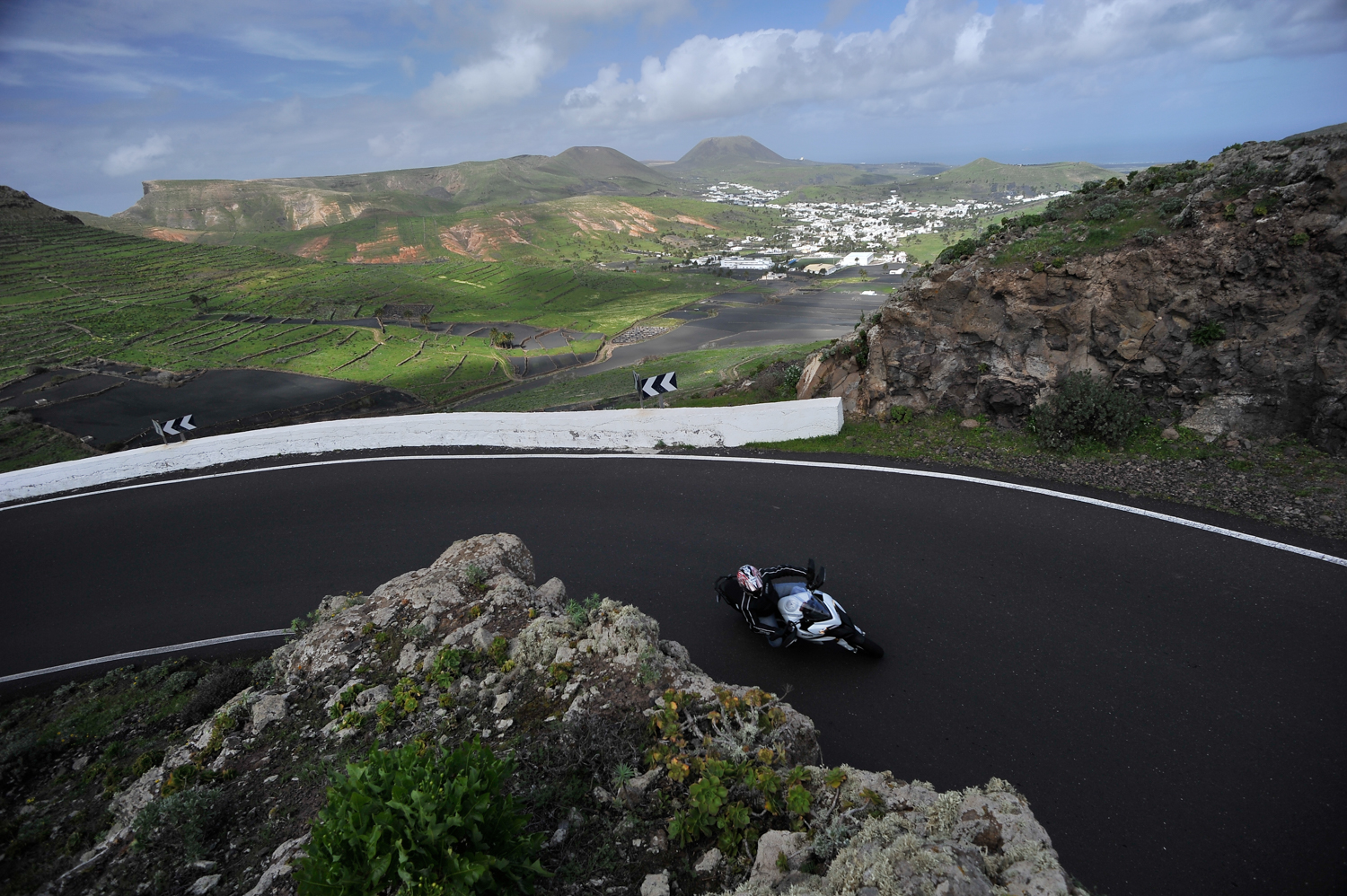 Riding the Ducati Multistrada in Lanzarote, 2010. Photo courtesy of Ducati and SuperbikePlanet.