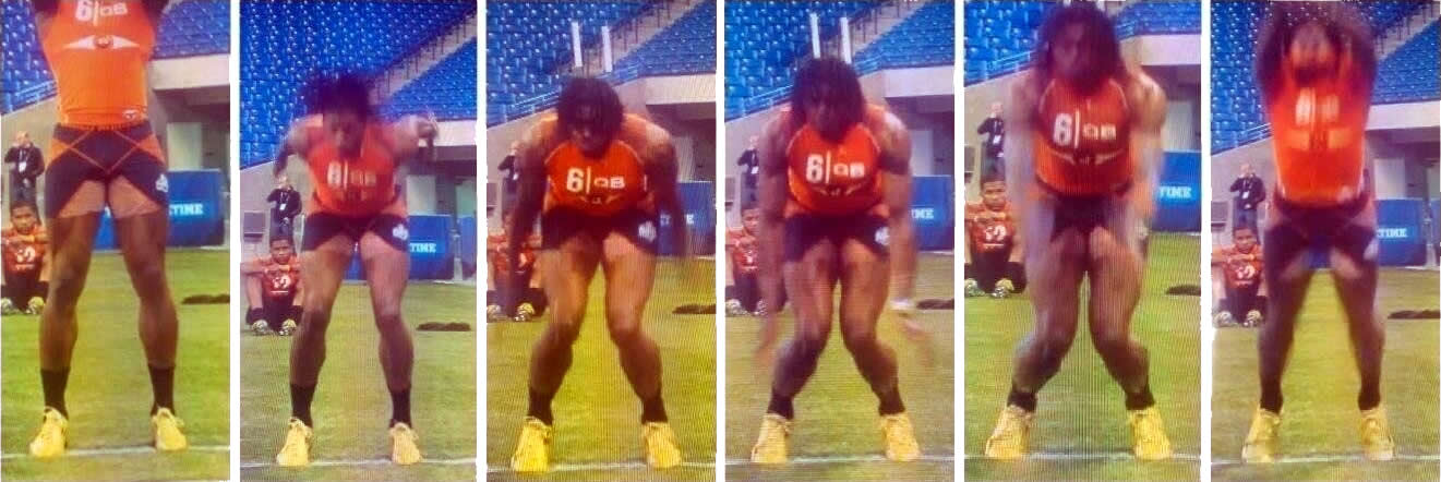 You can see the knees caving due to a lack of hip stability?