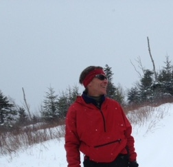 Chris leading a snowshoe hike in the Community Forest.
