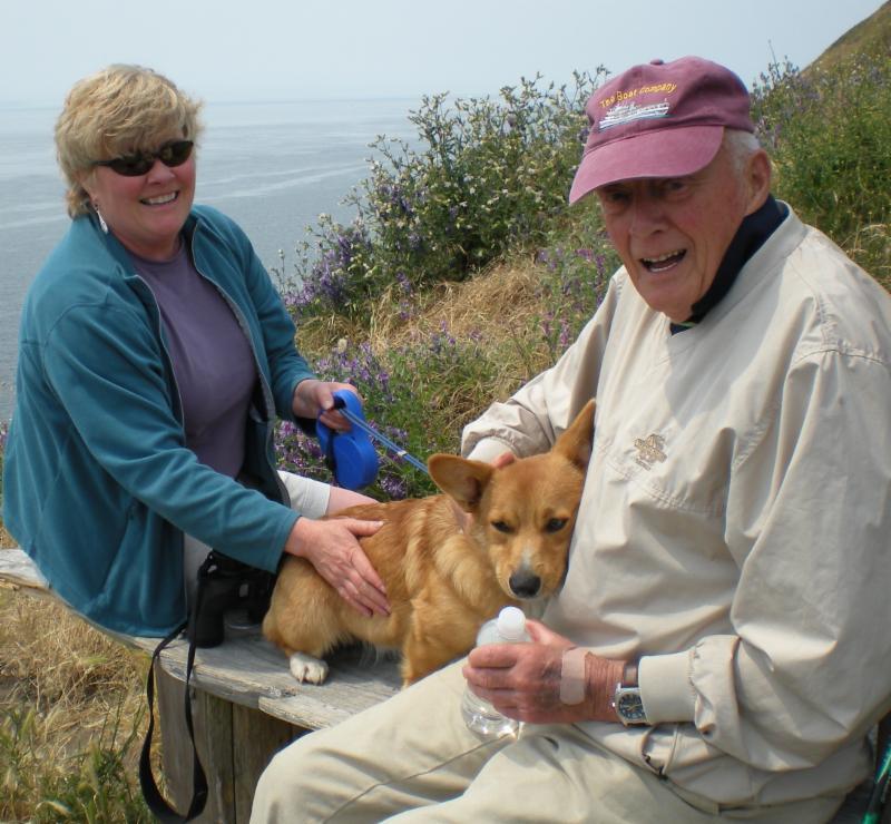 Kay Reid and Harry, her dad