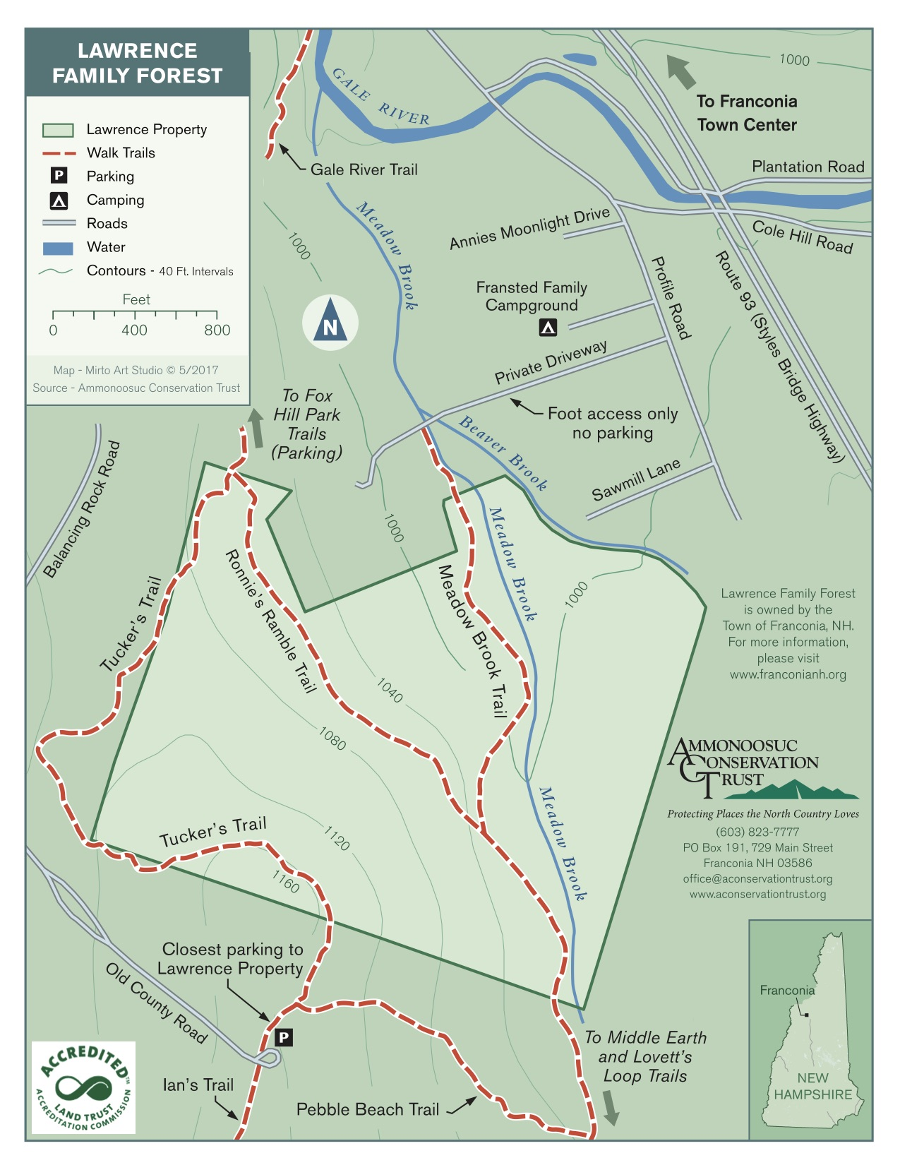 Download  a PDF of the trail map
