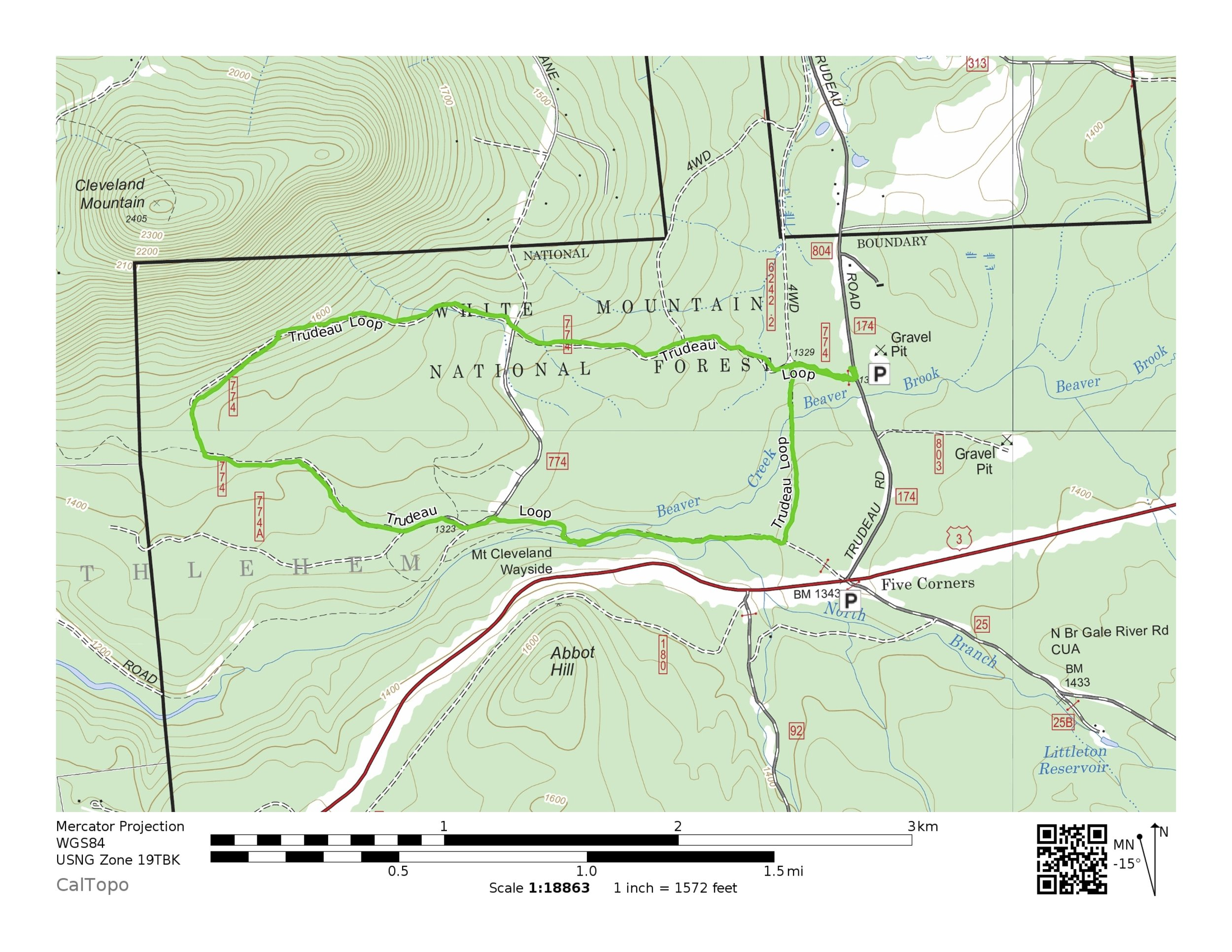 The map above is the BTA's 5 mile loop. Please click on the map to download a PDF with the 3 mile loop highlighted.