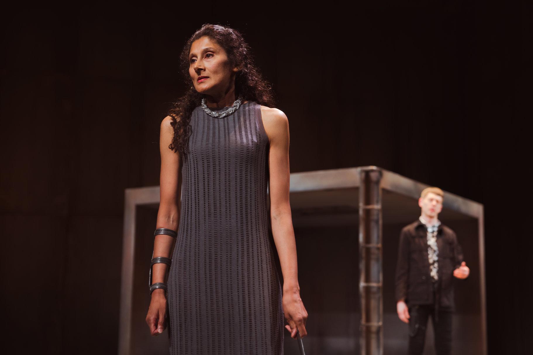 © Topher McGrillis, RSC (Sakuntala Ramanee as Lady Capulet + Josh Finan as Benvolio)