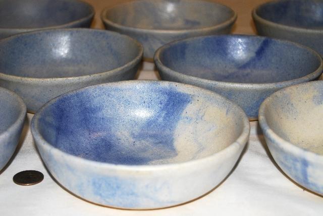 """Surreal Bowl #7 in cobalt cloud 7"""" x 2"""""""