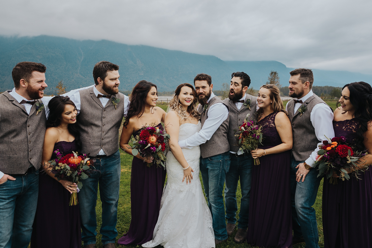 Fall Fraser River Lodge Rustic Wedding - Purple, Plaid, Wood, Red (143 of 225).JPG