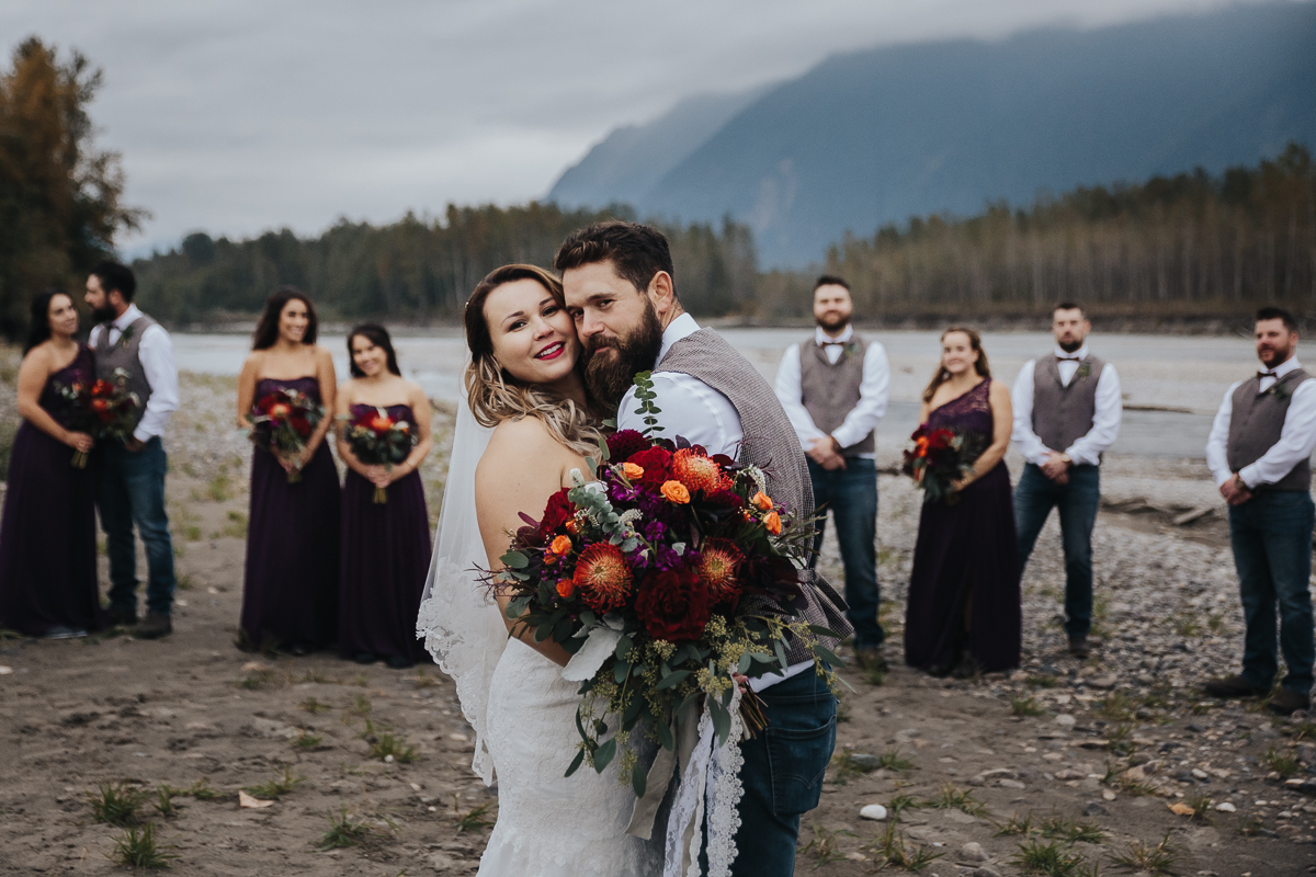 Fall Fraser River Lodge Rustic Wedding - Purple, Plaid, Wood, Red (148 of 225).JPG