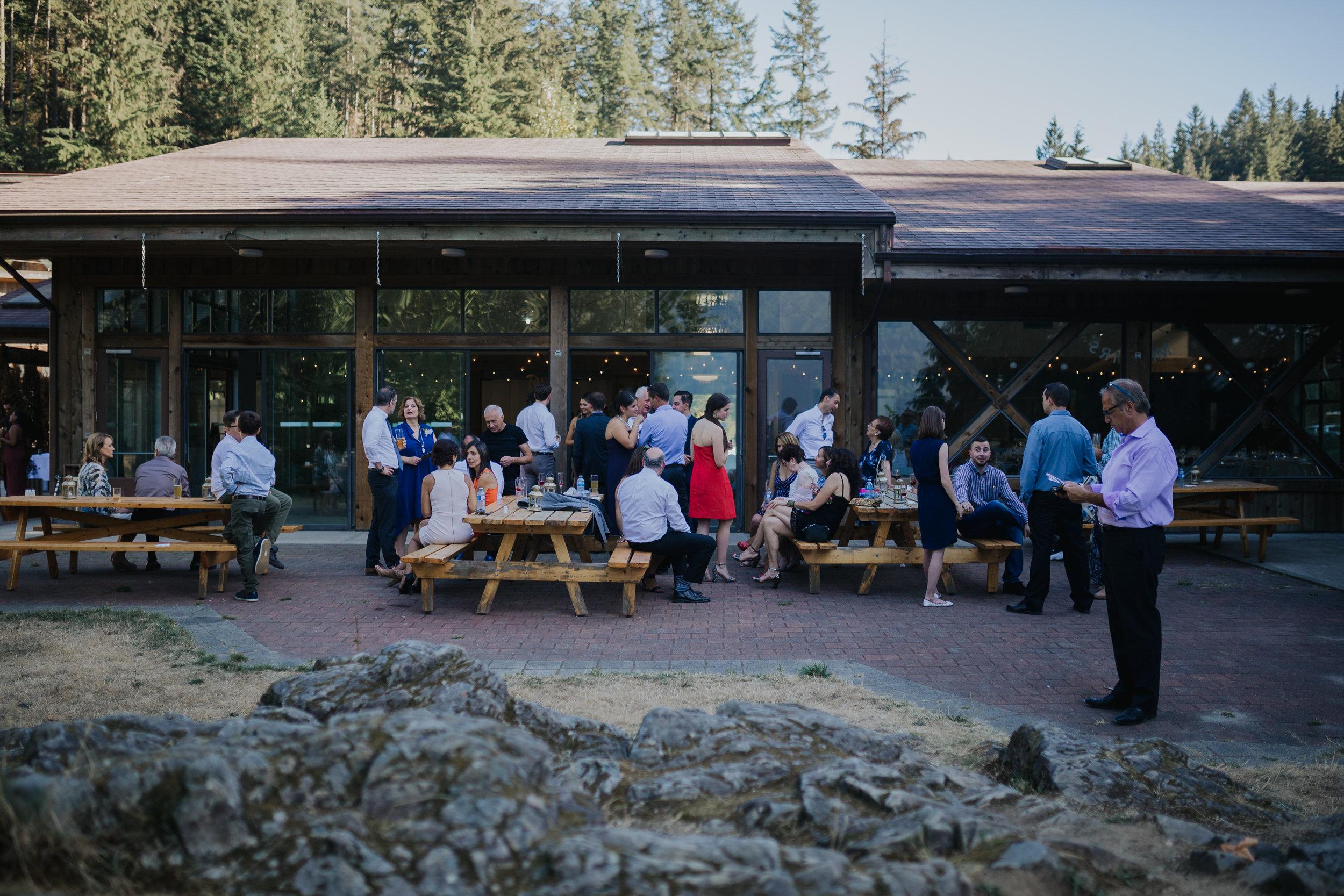 Camp Howdy Rustic Cabin Wedding reception
