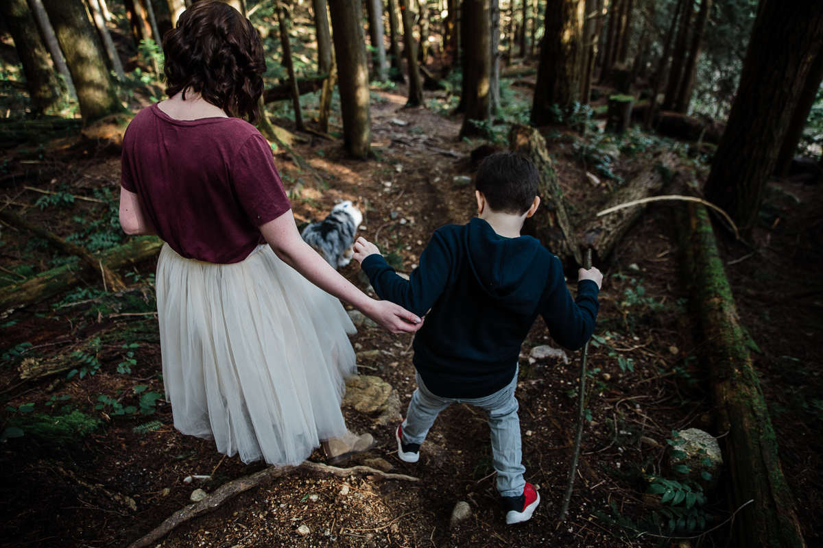 North Vancouver Forest Trails Engagement Photography Dog Walk -0031.JPG