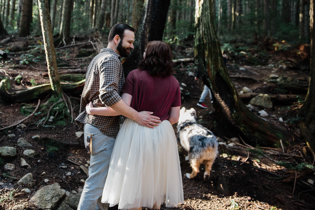 North Vancouver Forest Trails Engagement Photography Dog Walk -0113.JPG