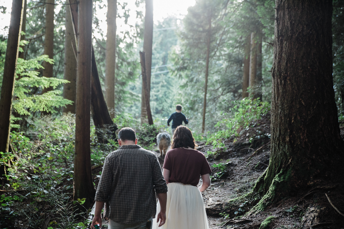 North Vancouver Forest Trails Engagement Photography Dog Walk -0003.JPG