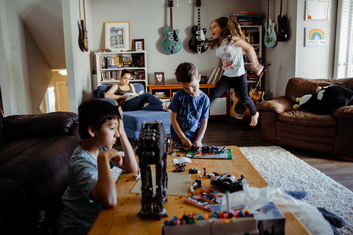 In Home Dinner Time Documentary Blended Family -21-021.JPG